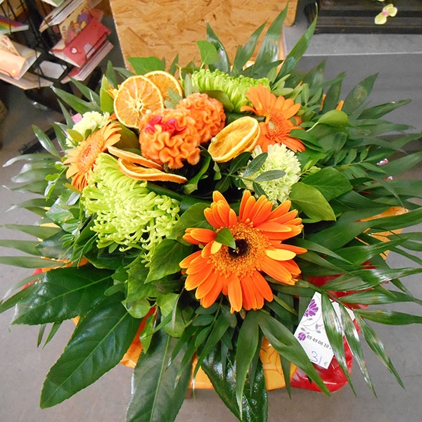 Bouquet orange vert