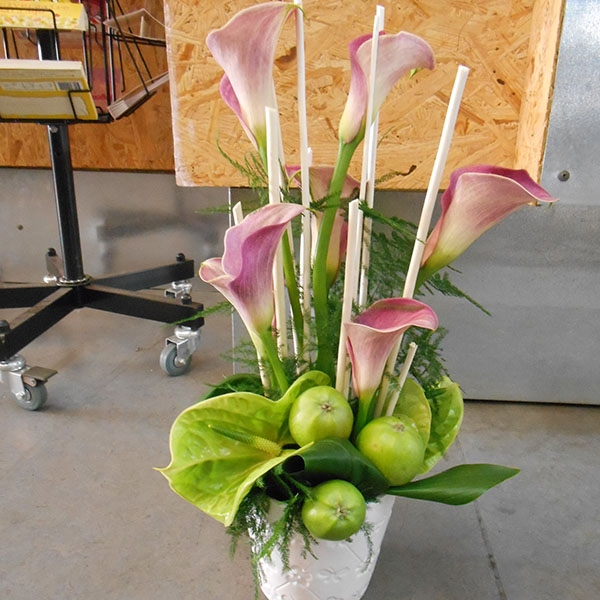 Composition callas anthuriums