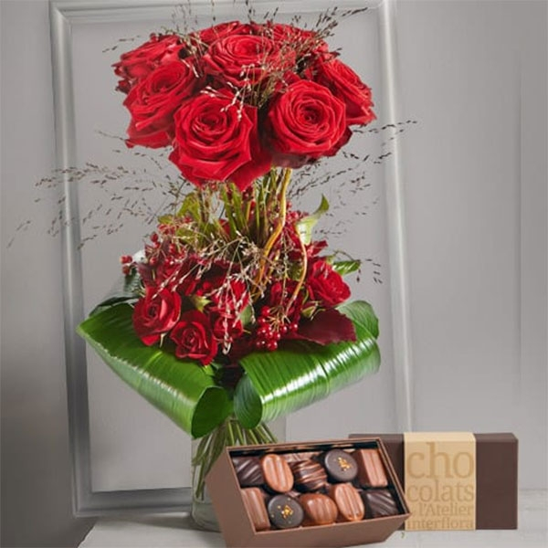 Interflora bouquet chocolat